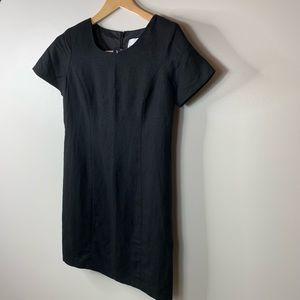 Nwt Adolfo Studio Linen/ Rayon Black Dress 4P